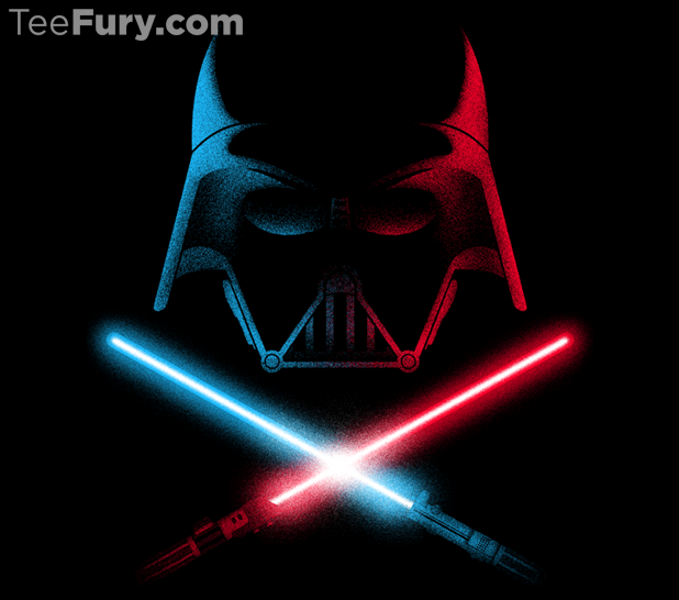 You have got to have a little light saber and Darth action!
