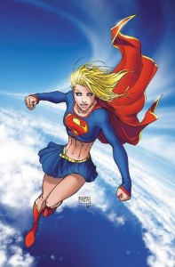 Supergirl (Kara Zor-El) from the cover of DC Comics' Superman/Batman #13 (2004) by Michael Turner.